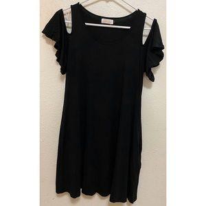 Ava Sky Cold Shoulder Dress